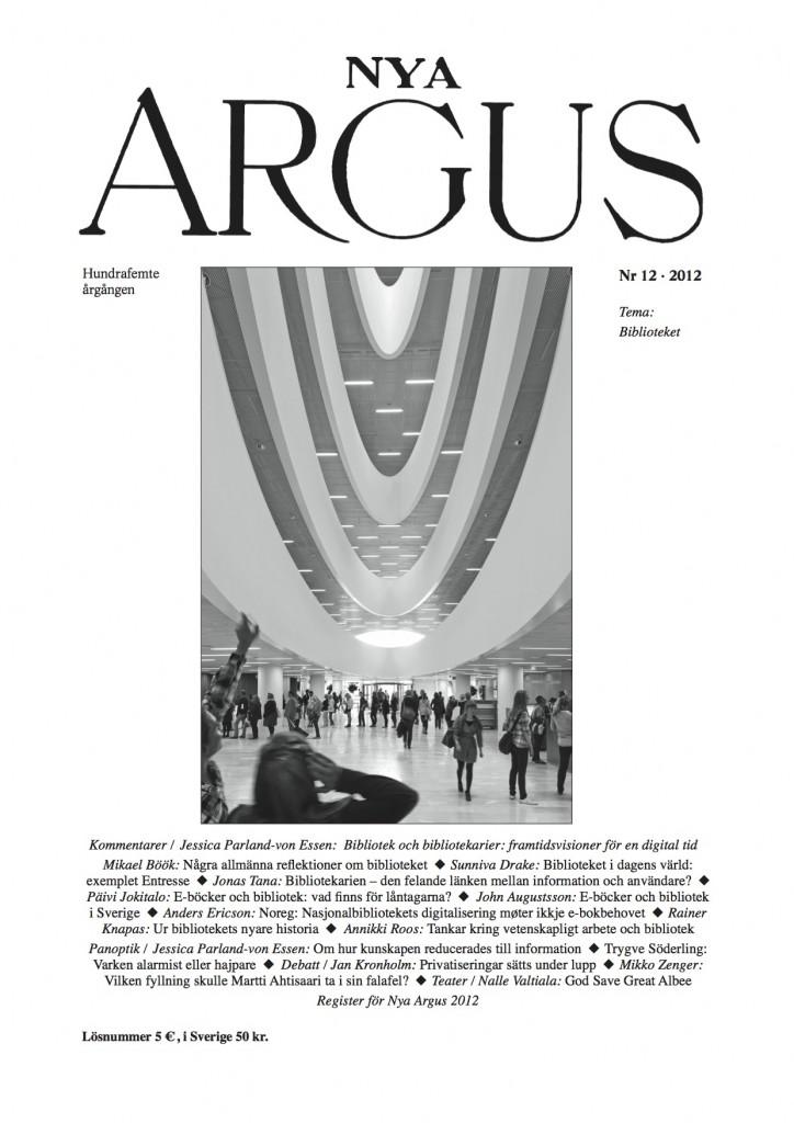 Klicka på pärmen för att läsa ett provnummer av Nya Argus